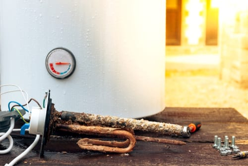 Damage Water Heater